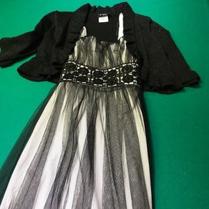 Girls Formal Dress with Shrug.